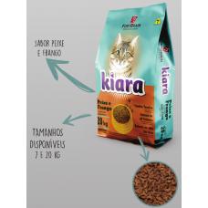 Ração Kiara Gatos Peixe e Frango 1kg A Granel