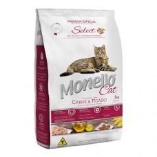 Monello Cat Carne e Fígado Select 10.1kg