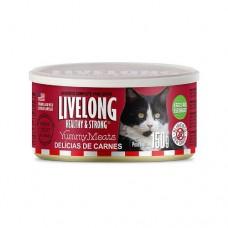 Alimento Úmido Livelong Delicias de Carnes 150g