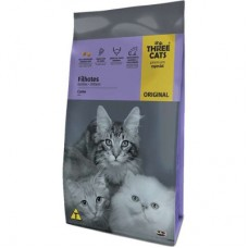 Three Cats Premium Especial Filhote Carne 1kg A Granel