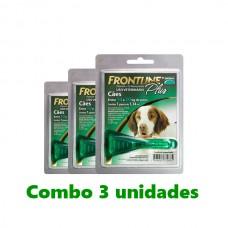 Combo Frontline Plus Cães 10-20kg 3 unidades