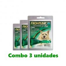 Combo Frontline Plus Cães até 10kg 3 unidades