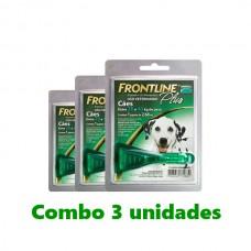 Combo frontline Plus Cães 20-40kg 3 unidades