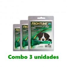 Combo Frontline Plus Cães 40-60 kg 3 unidades