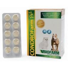 Condrofarm Pet Cartela com 10 comprimidos.