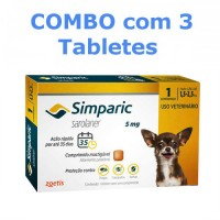 Simparic 5mg 1,3Kg a 2,5Kg Combo 3 Tabletes.