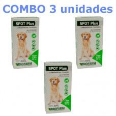 Combo Carrapaticida e Pulgicida Spot Plus 20 a 40kg 3 unidades