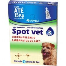 Antipulgas e Carrapatos Spot Vet 3 Cães ate 15kg