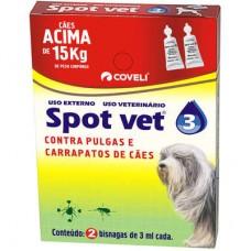 Antipulgas e Carrapatos Spot Vet 3 Cães acima de 15kg